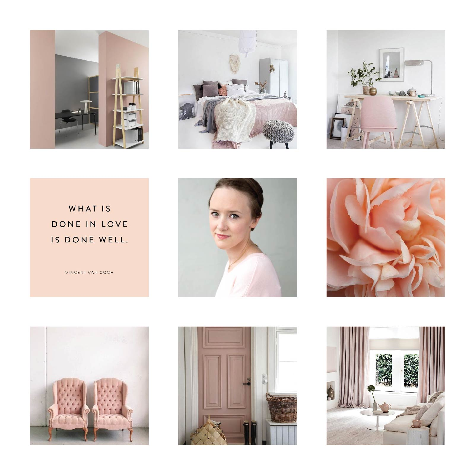 Website Upgrade Mood board for Jessica Erin Martin's official website